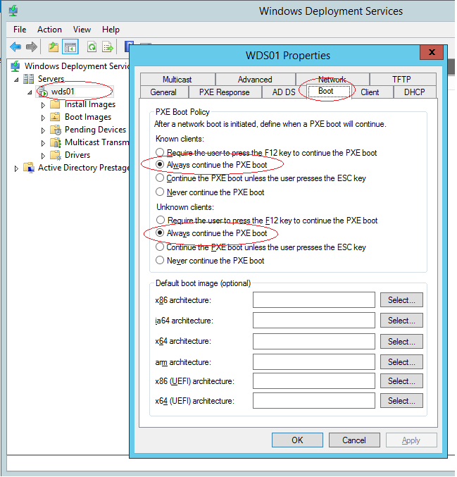 SCCM Deploy – PXE boot menu Forwarder – Windows and Linux