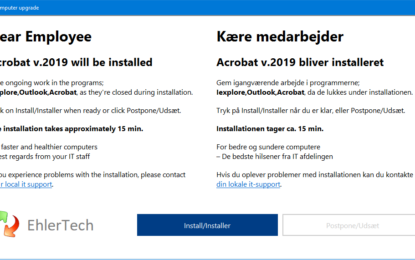 SCCM – Installing intrusive Applications…